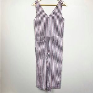 Beach Lunch Lounge Striped Multicolored Jumpsuit